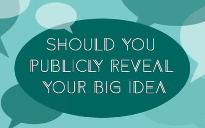 Should you publicly reveal your Big Idea?